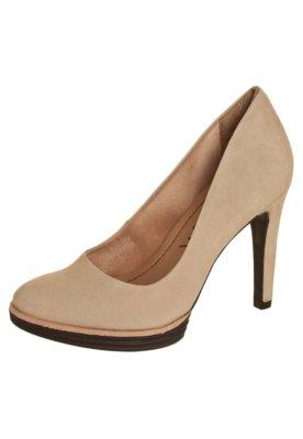 Sapato Scarpin Ramarim Meia Pata Emborrachada Color Nude