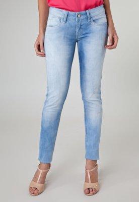 Calça Jeans Acostamento Skinny Puído Azul