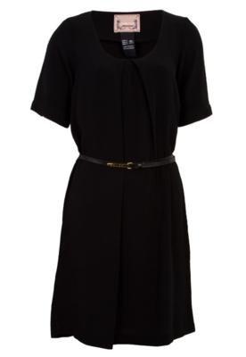 Vestido Colcci Comfort Pregas Cinto Preto