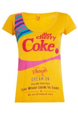 Blusa Coca-Cola Clothing Small Diet Cherry Amarela - Coca Co...