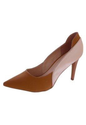 Sapato Scarpin Pink Connection Elegance Caramelo