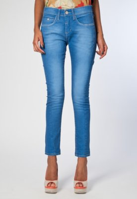 Calça Jeans Calvin Klein Skinny Pass Azul - Calvin Klein Je...