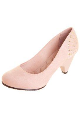 Sapato Scarpin Moleca Delicate Nude