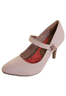 Sapato Scarpin Ramarim Button Rosa