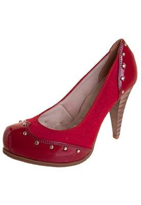 Sapato Scarpin Bebecê Rebites Vermelho