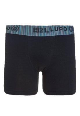 Cueca Boxer Lupo Brand Preta