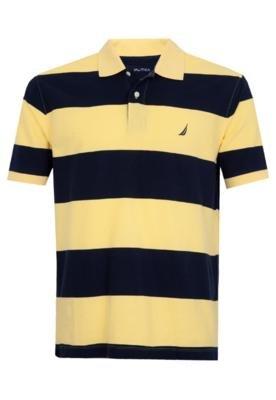 Camisa Polo Nautica Raies Amarela