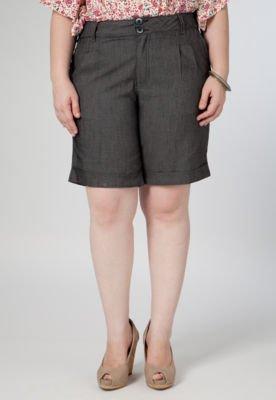 Bermuda Jeans Anna Flynn Case Preto