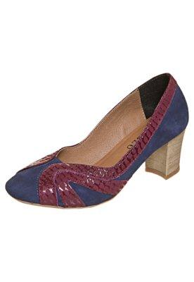 Sapato Scarpin FiveBlu Recortes Azul