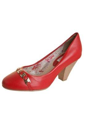 Sapato Scarpin Bottero Salto Médio Ferragem Logo Vermelho