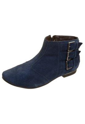 Bota Flat Total Comfort Fivelas Azul - Ramarim