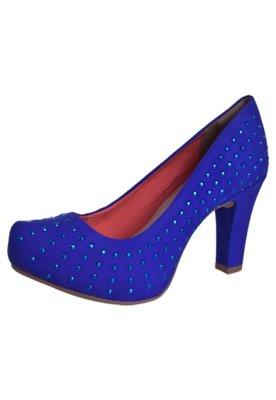 Sapato Scarpin Dakota Tubarão Hotfix Azul