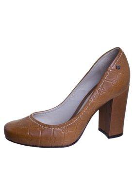 Sapato Scarpin Monograma Marrom - Capodarte