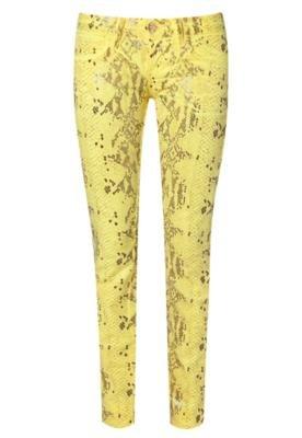 Calça Jeans Cola-Cola Clothing Kate Skinny Amarela - Coca C...