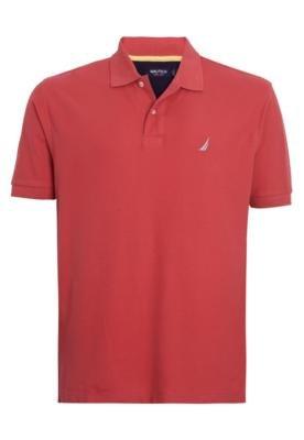 Camisa Polo Nautica Confort Vermelha