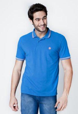 Camisa Polo Mandi Básica Azul