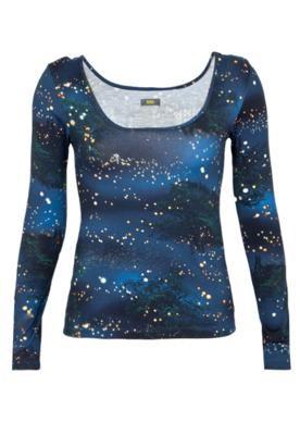 Blusa  Justa Luzes Azul - Triton