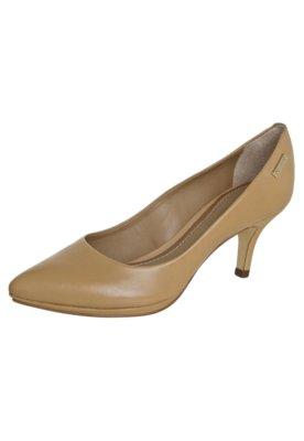 Sapato Scarpin Dumond Salto Médio Meia-Pata Baixa Bege
