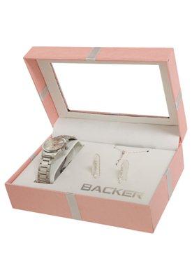 Relógio Backer W 16990027 Prata