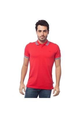 Camisa Polo Bordado Vermelha - Umbro