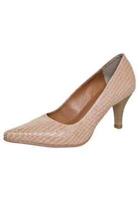 Sapato Scarpin FiveBlu Textura Nude