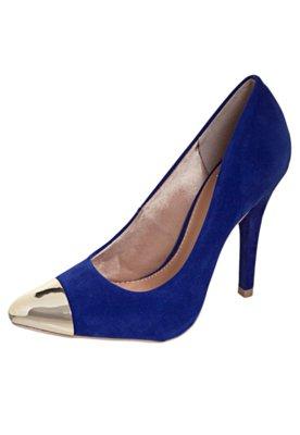 Sapato Scarpin FiveBlu Laço Cap Toe Azul