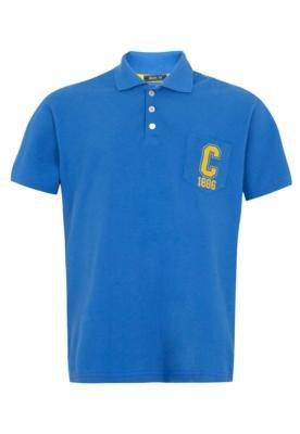 Camisa Polo Coca-Cola Clothing Brasil Original Azul - Coca C...