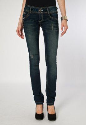 Calça Jeans Forum Skinny Tina SPikes Azul
