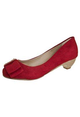 Sapato Scarpin Anna Flynn Shine Vermelho