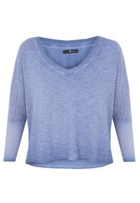 Blusa Jateada Cropped Azul - Redley