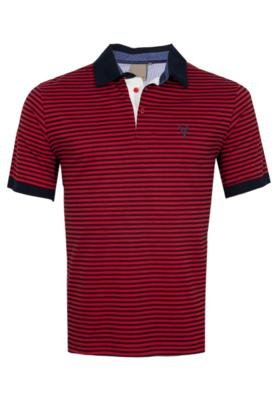 Camisa Polo VR Menswear Listrada Vermelha