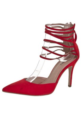 Sandália Biondini Bico Fino Gladiador Vermelha