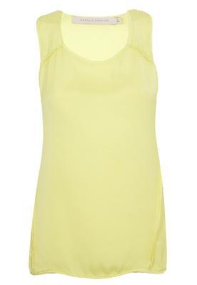 Blusa Espaço Fashion Recortes Externos Amarela