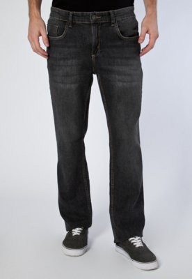 Calça Jeans TNG Reta Collection Preta