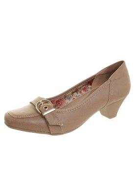 Sapato Scarpin Anna Flynn Fivela Marrom
