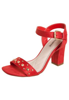 Sandália Via Marte SPikes e Tachas Vermelha