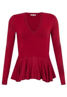 Blusa Carina Duek Hilary Vermelho