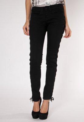 Calça Jeans TNG Skinny Amarração Preta