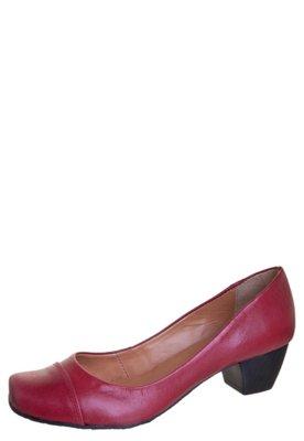 Sapato Scarpin Raphaella Booz Bico Quadrado Basic Vermelho