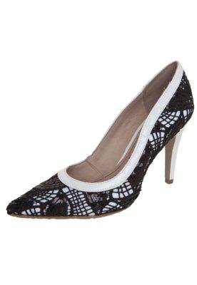 Sapato Scarpin Miucha Bico Fino Renda Branco