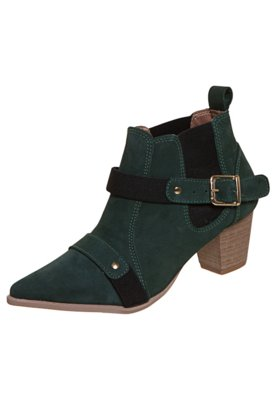 Ankle Boot FiveBlu Elástico Verde