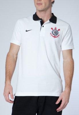 Camisa Polo Nike Corinthians Branca
