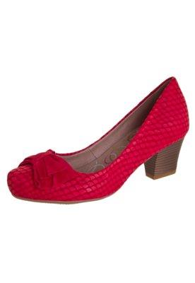 Sapato Scarpin Bottero Laço Salto Baixo Vermelho