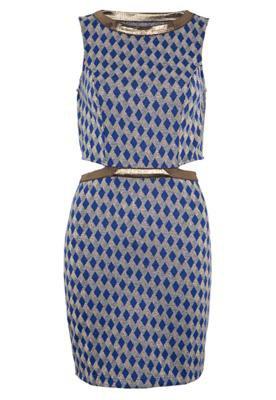 Vestido Petit Geometric Shine Cinza - Sommer