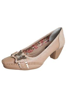 Sapato Scarpin Anna Flynn Borboleta Bege
