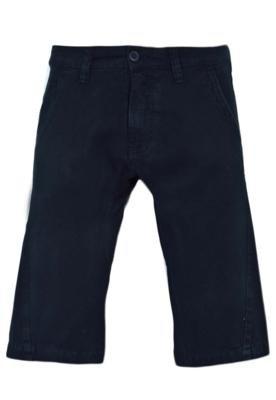 Bermuda Jeans Calvin Klein Recorte Azul Marinho - Calvin Kle...