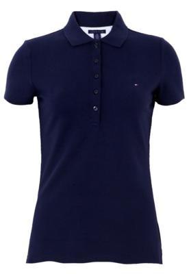Camisa Polo Tommy Hilfiger Bordada Azul