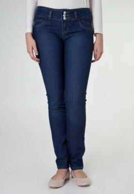 Calça Jeans Skinny Sawary Shine Azul