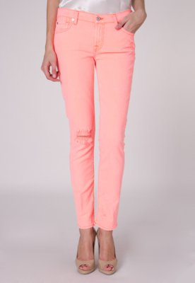 Calça Jeans 7 For All Mankind Jiselle Nouveau Coral