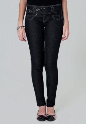 Calça Jeans Sawary Skinny You Preta